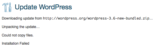 wordpress-3.6-update-could-not-copy-files-installation-failed