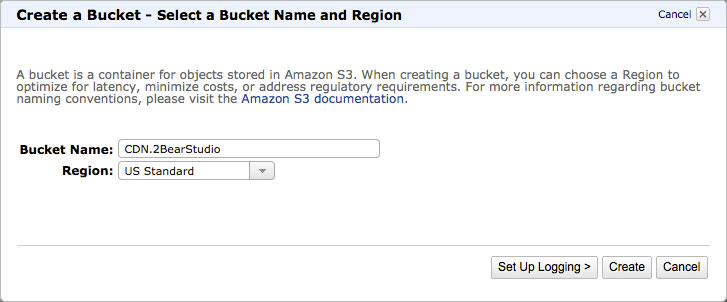 amazon-s3-create-bucket