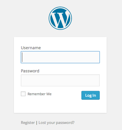 wordpress-login-screen