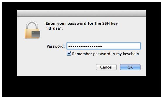 private ssh key password   wordpress optimized